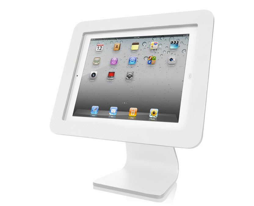 white secure ipad stand
